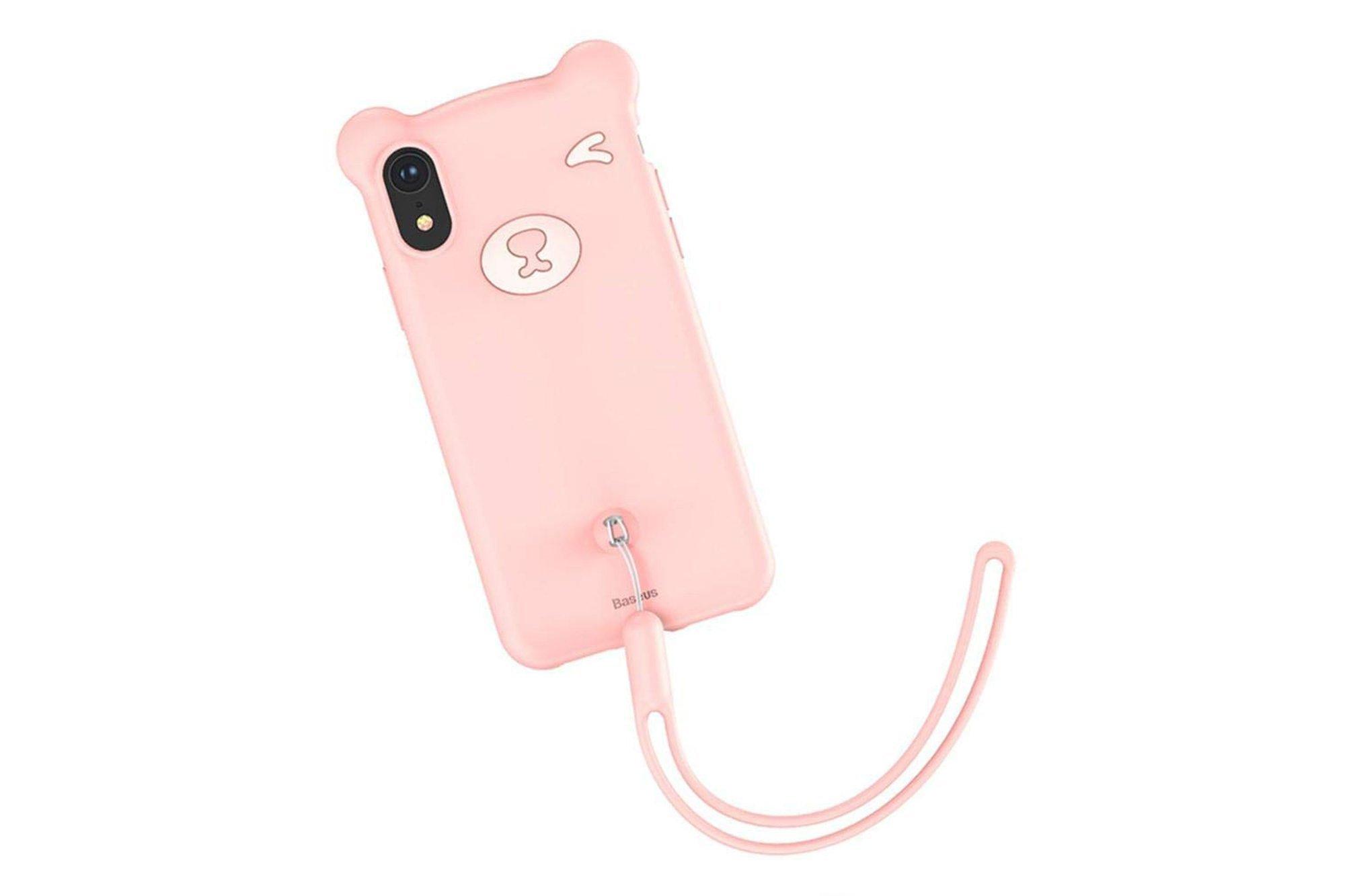 Baseus Bear Silicon Case Silicon iPhone XS / X Pink