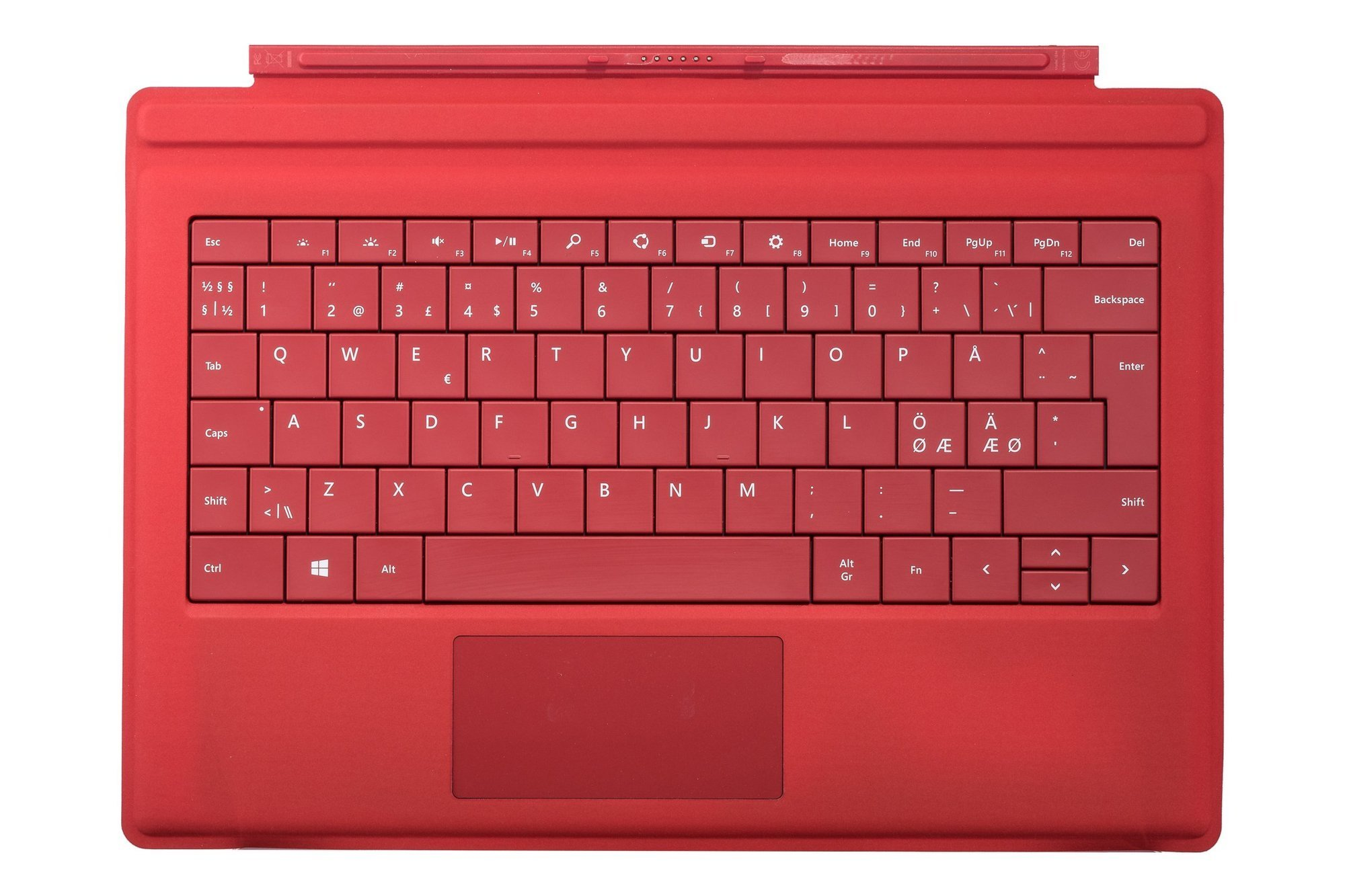 Keyboard Microsoft Surface Type Cover 3 Red QWERTY (Nordic) Grade B