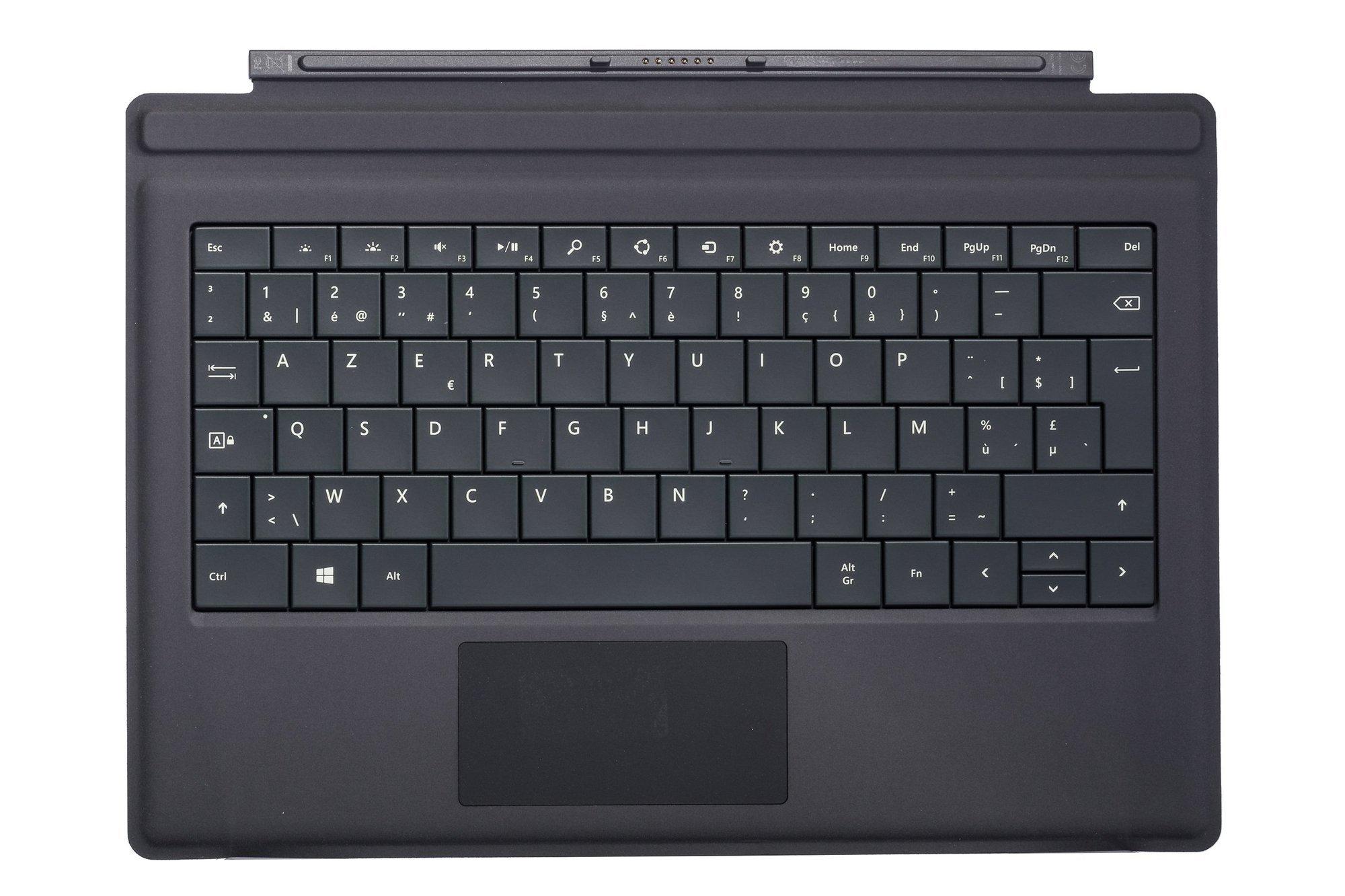 Keyboard Microsoft Surface Type Cover Pro 3 Black AZERTY (Belgian) Grade A