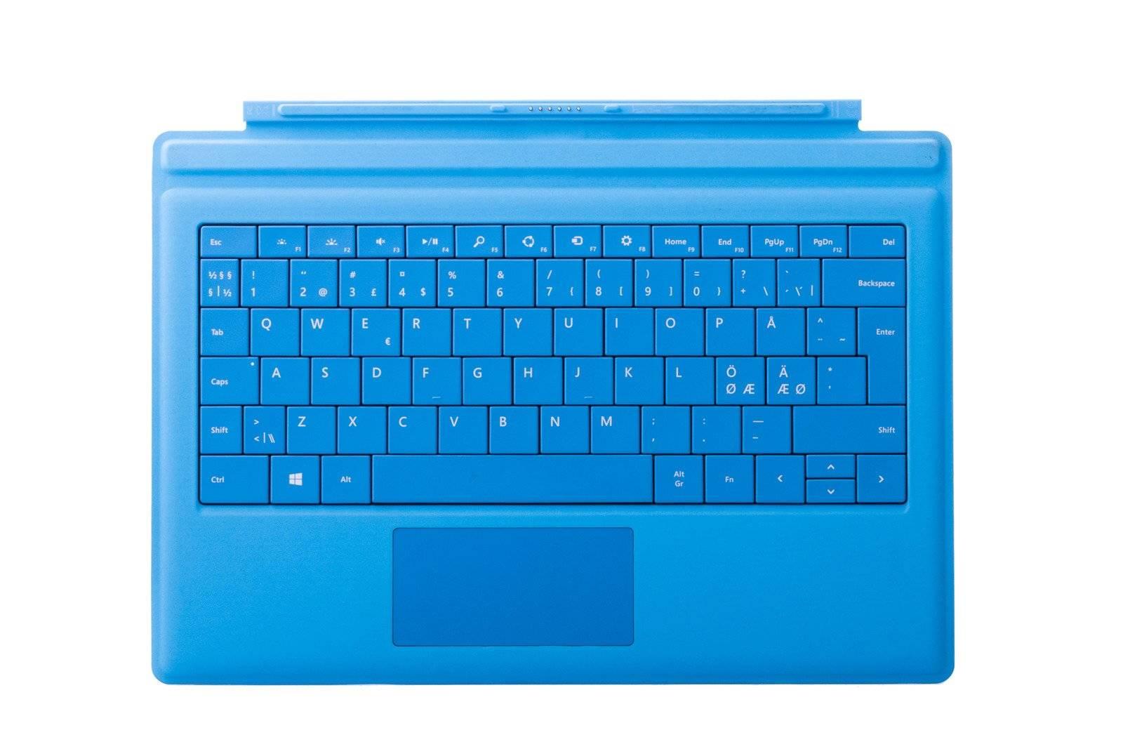 Keyboard Microsoft Surface Type Cover Pro 3 Cyan QWERTY (Nordic) Grade A