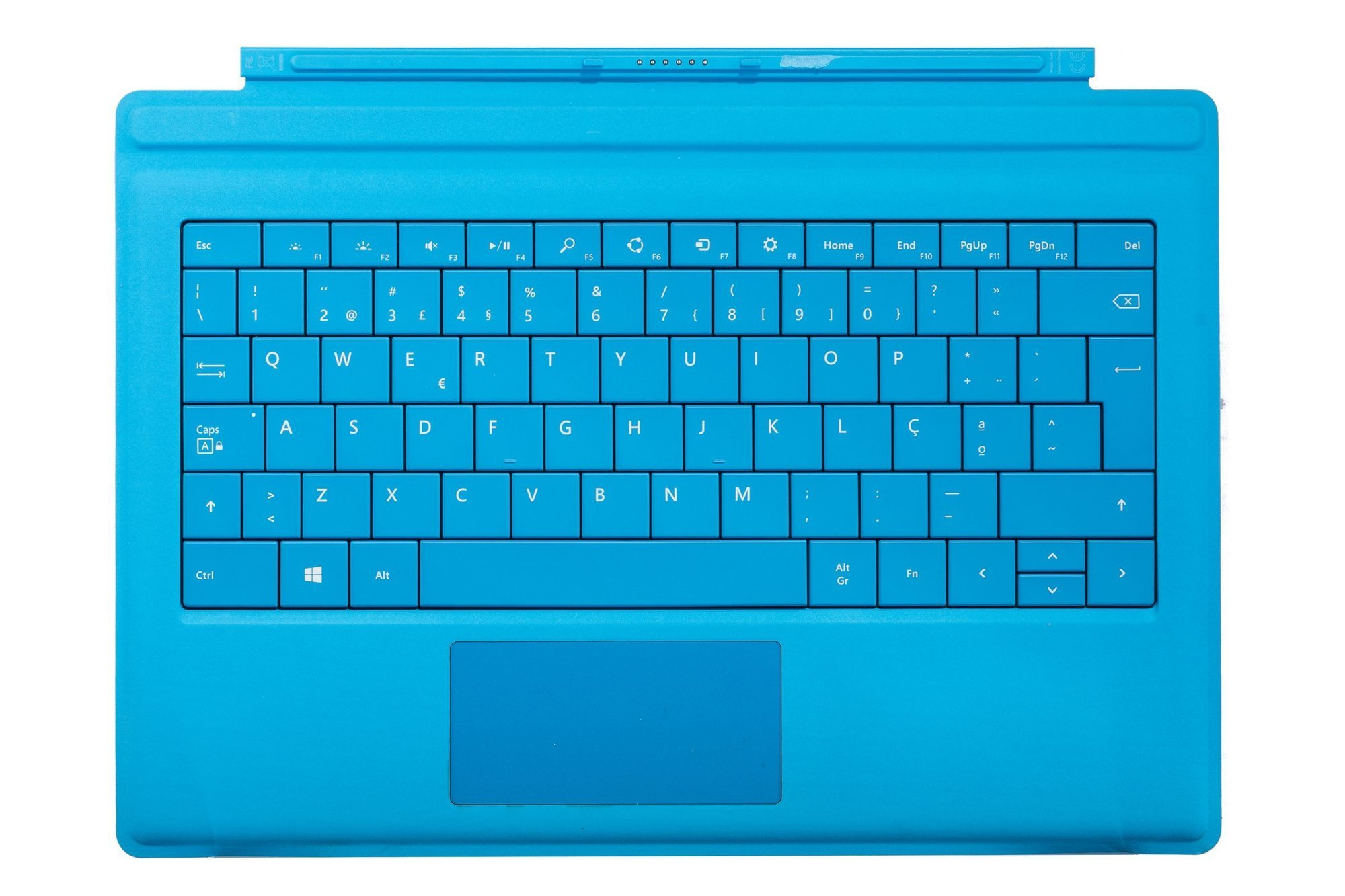 Keyboard Microsoft Surface Type Cover Pro 3 Cyan QWERTY (Portuguese) Grade B