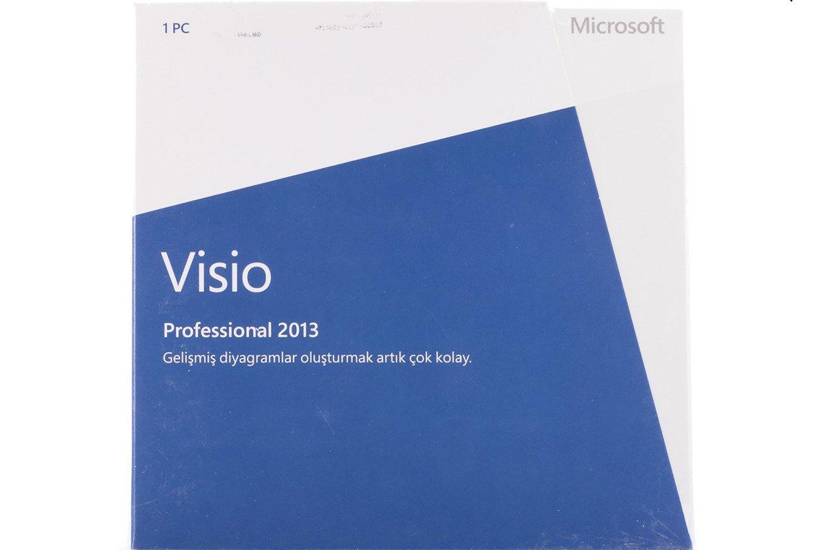 New Genuine Microsoft Visio Professional 2013 D87-05431 Medialess Eurozone BOX