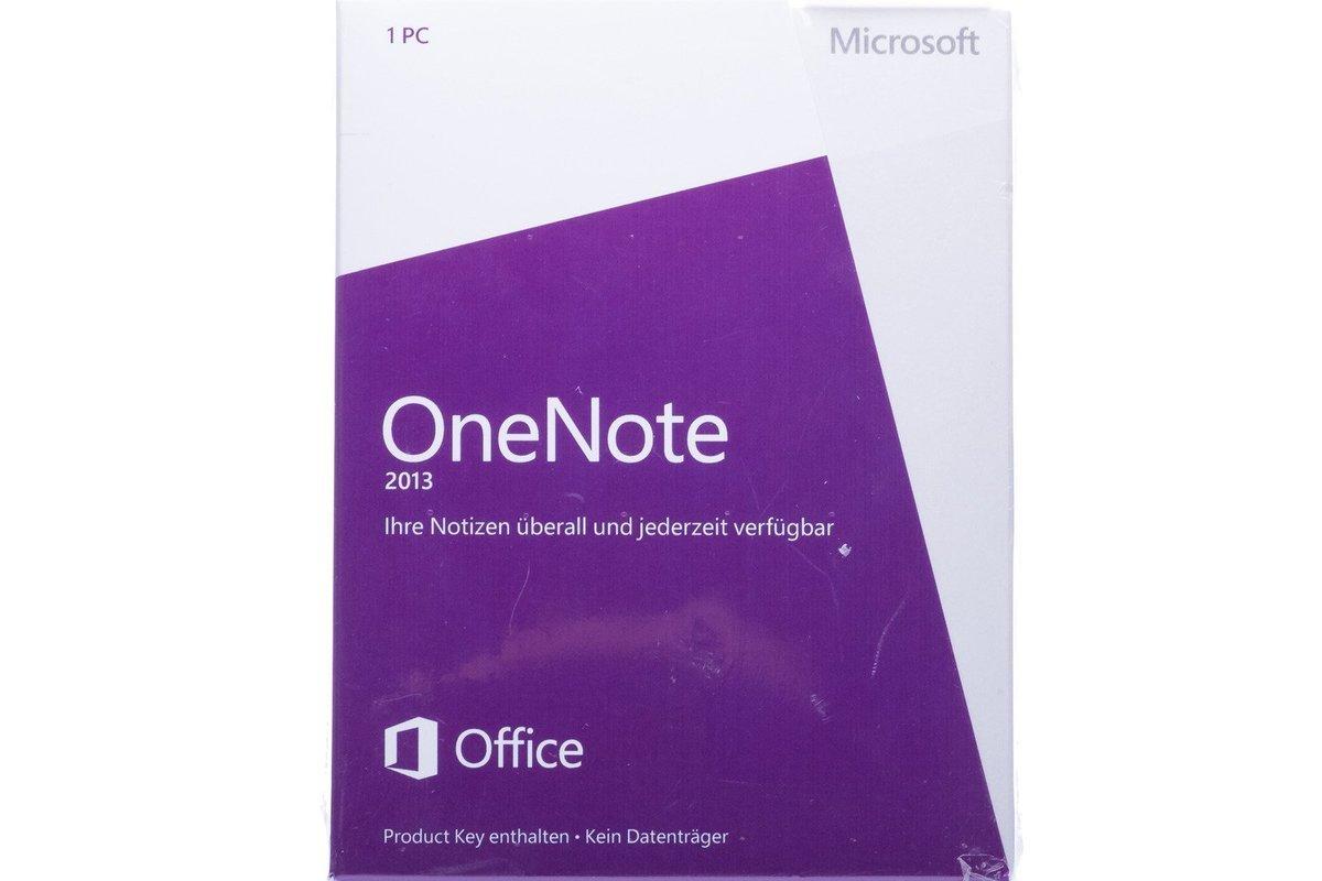 New Microsoft OneNote 2013 32/64 Medialess S26-05033 Eurozone
