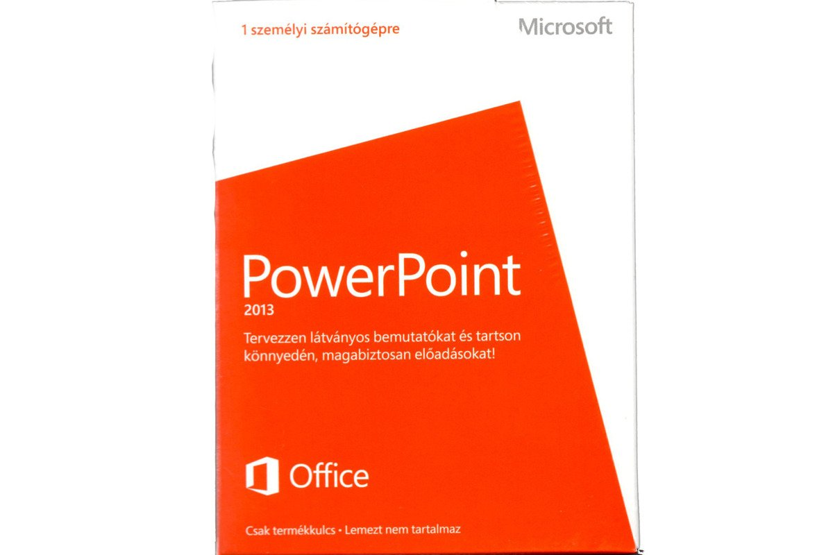 New Microsoft PowerPoint 2013 079-05894 Hungarian Medialess Eurozone