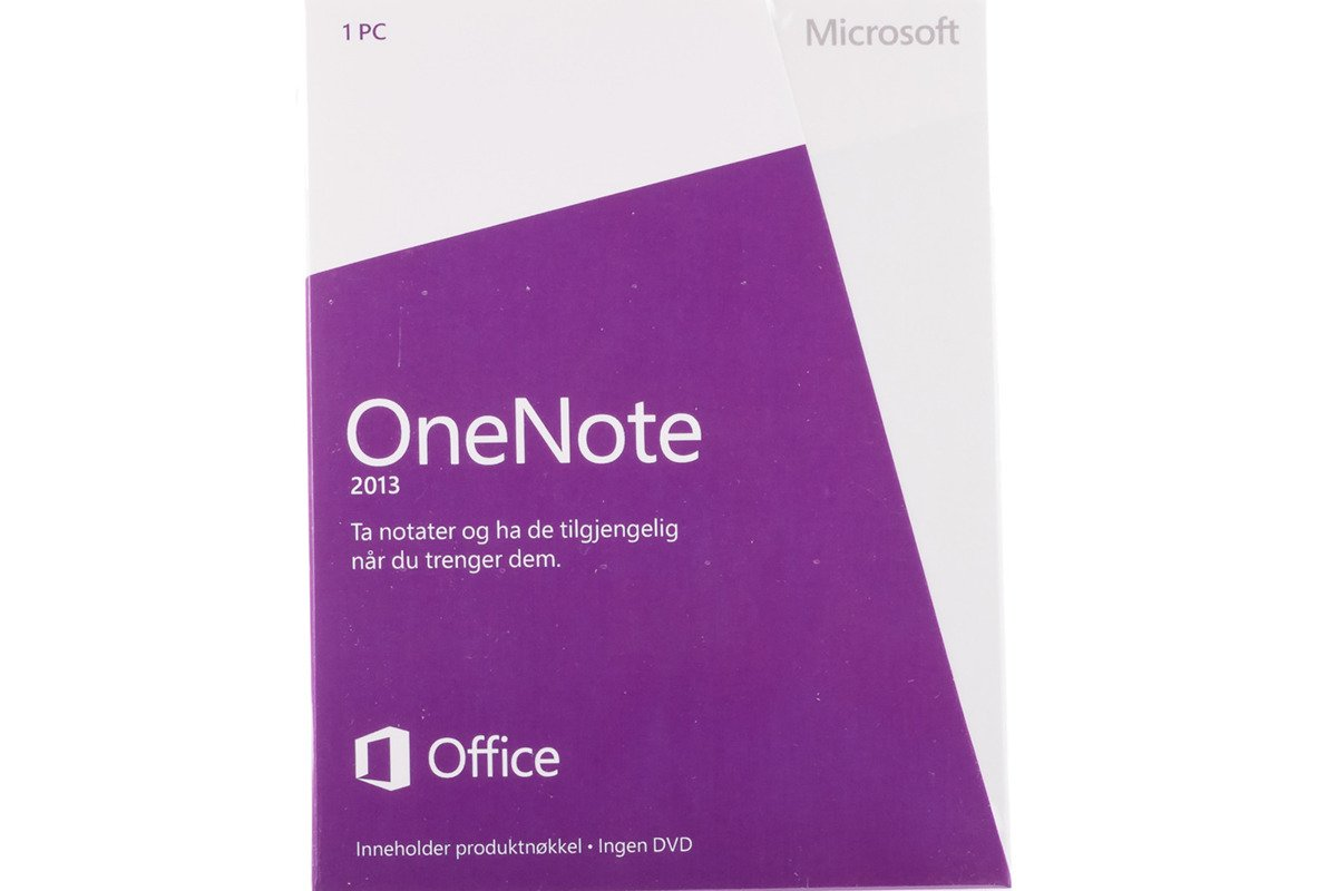 New Sealed Original Microsoft OneNote 2013 S26-05095 Medialess Eurozone