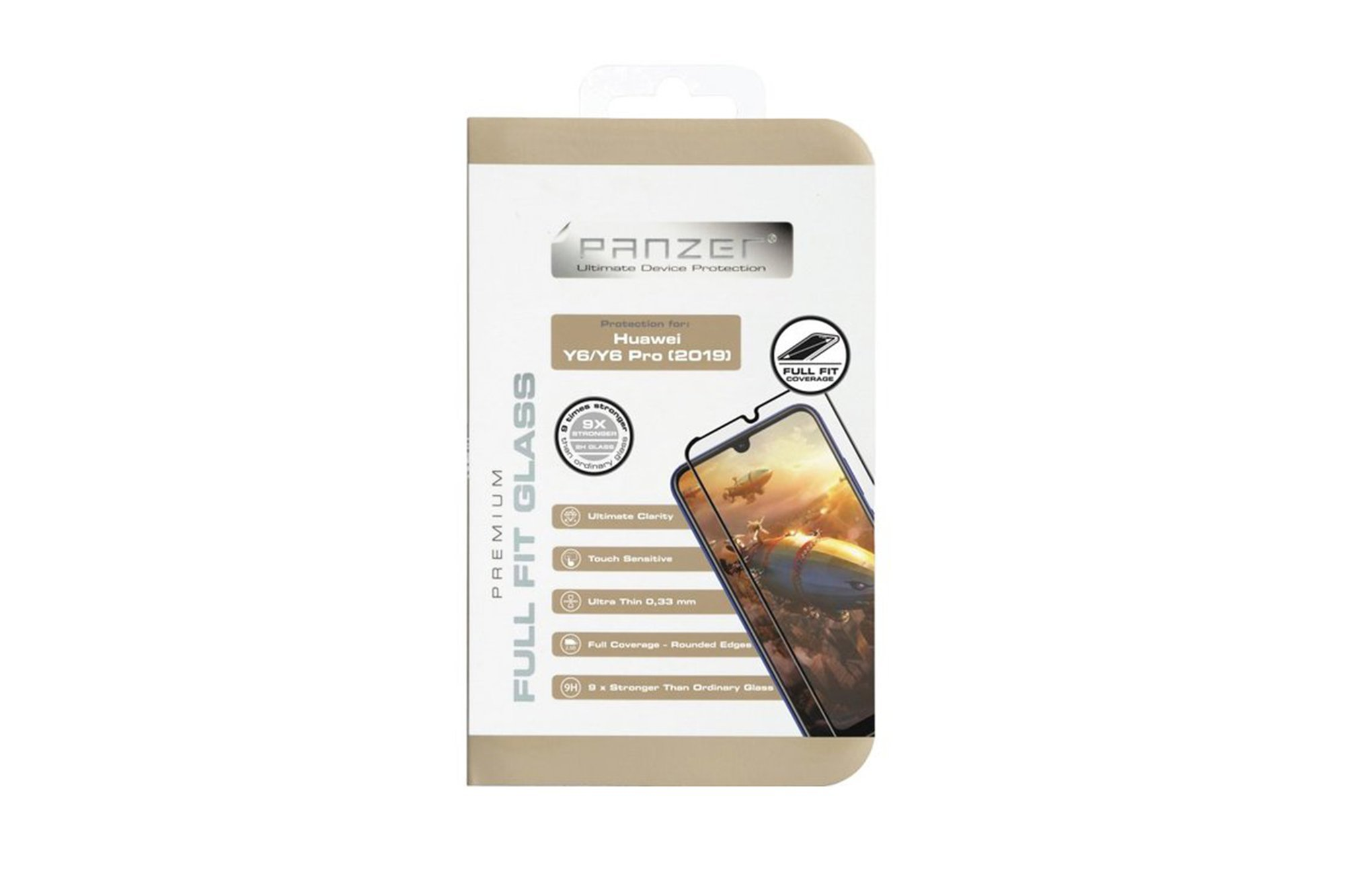 Protection glass Panzer FULL FIT GLASS HUAWEI Y6/Y6 PRO 2019