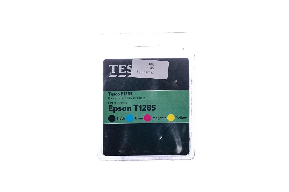 Remanufactured Ink cartridge Tesco Epson T1285 Cyan, Magenta, Yellow, Black