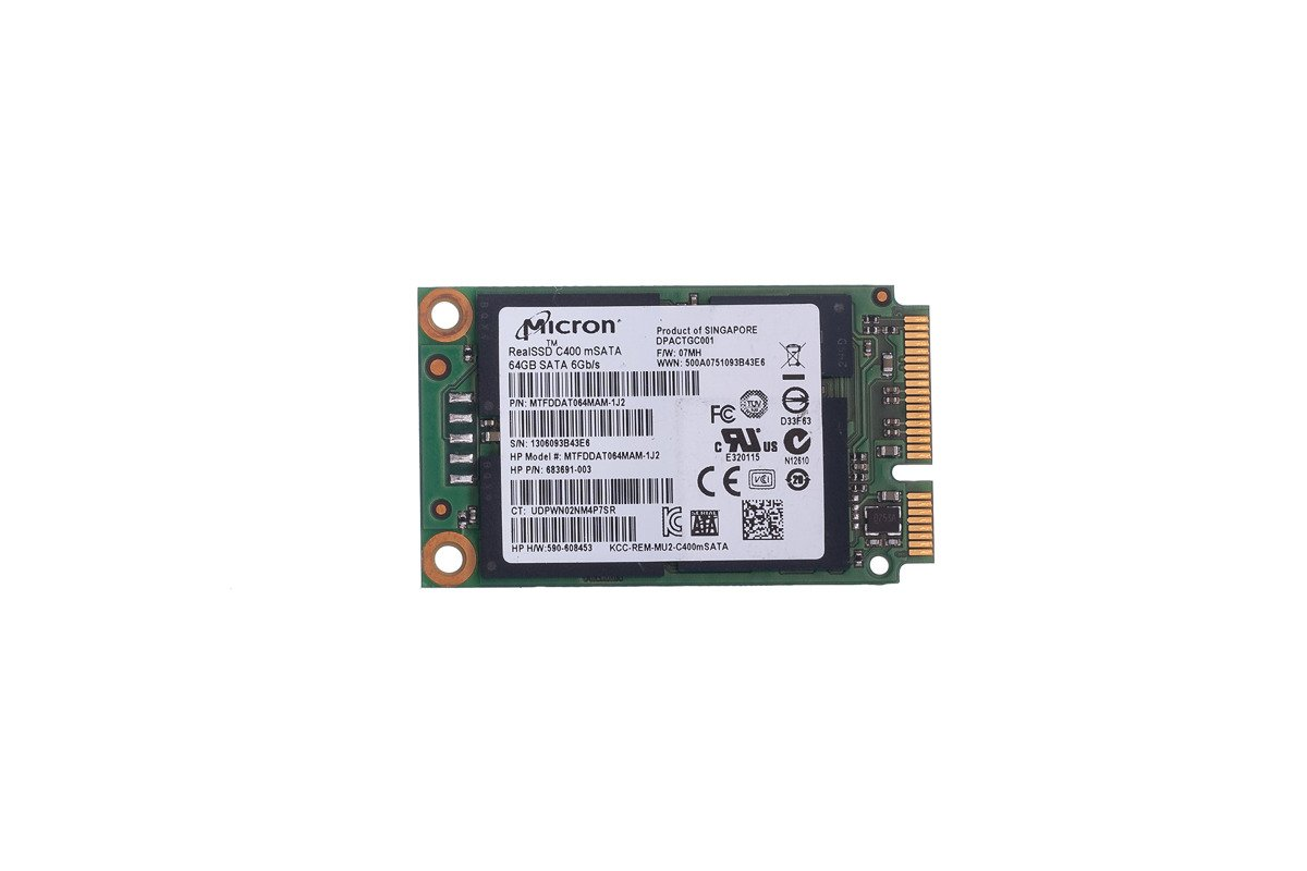 SSD Micron 64GB realSSD C400 mSATA MTFDDAT064MAM