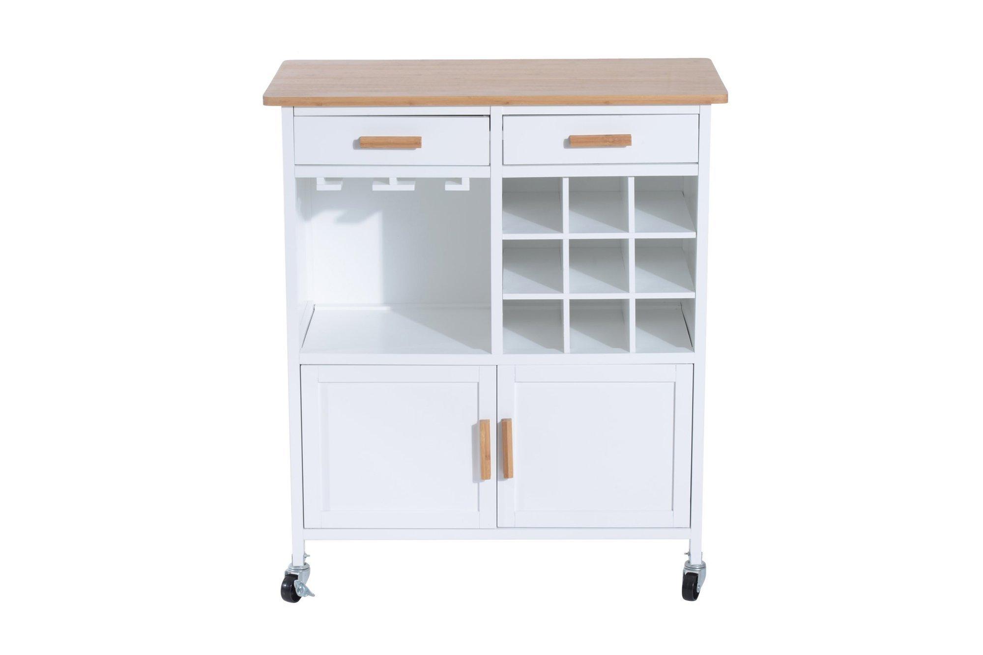 Trolley / Kitchen cabinet on wheels Homcom 801-008WT