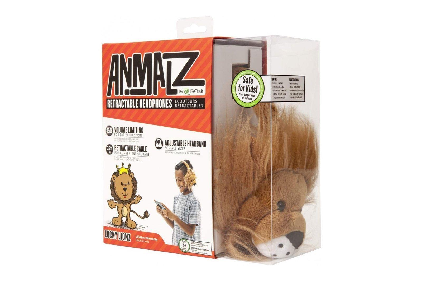 Animalz by ReTrak Lion Wired On-Ear Headphones