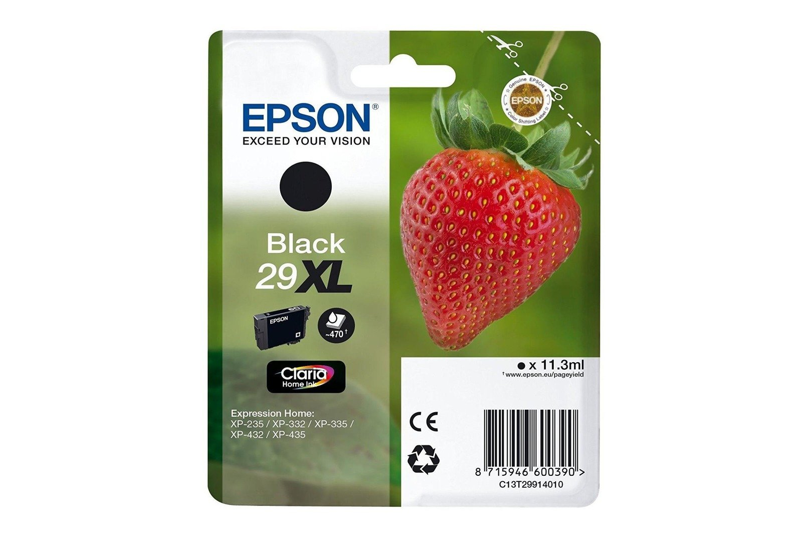 Genuine Ink Cartridge Epson 29XL T2991 C13T29914012 Black