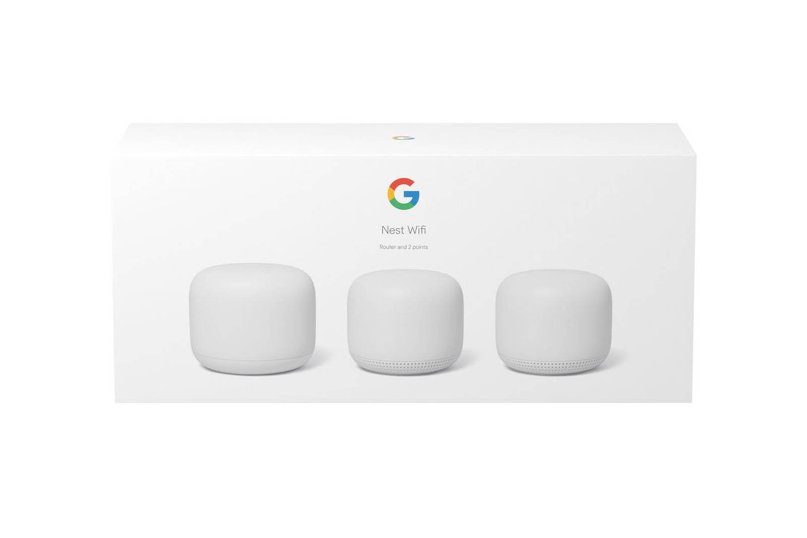 Google Nest Wifi Router and 2 extender points (GA00823-NO) Snow