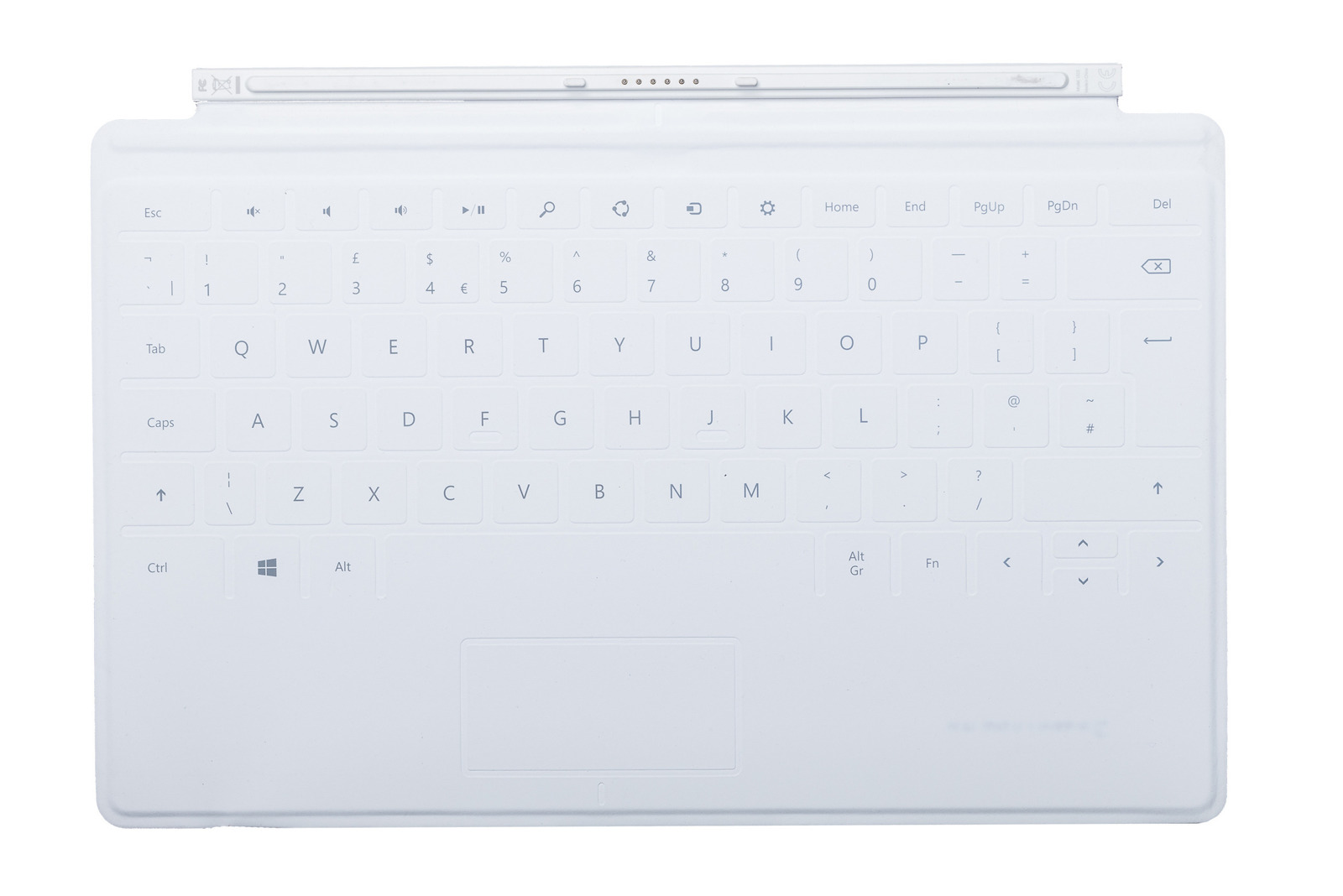 Keyboard Microsoft Surface Touch Cover 1 White QWERTY (UK105) Grade A