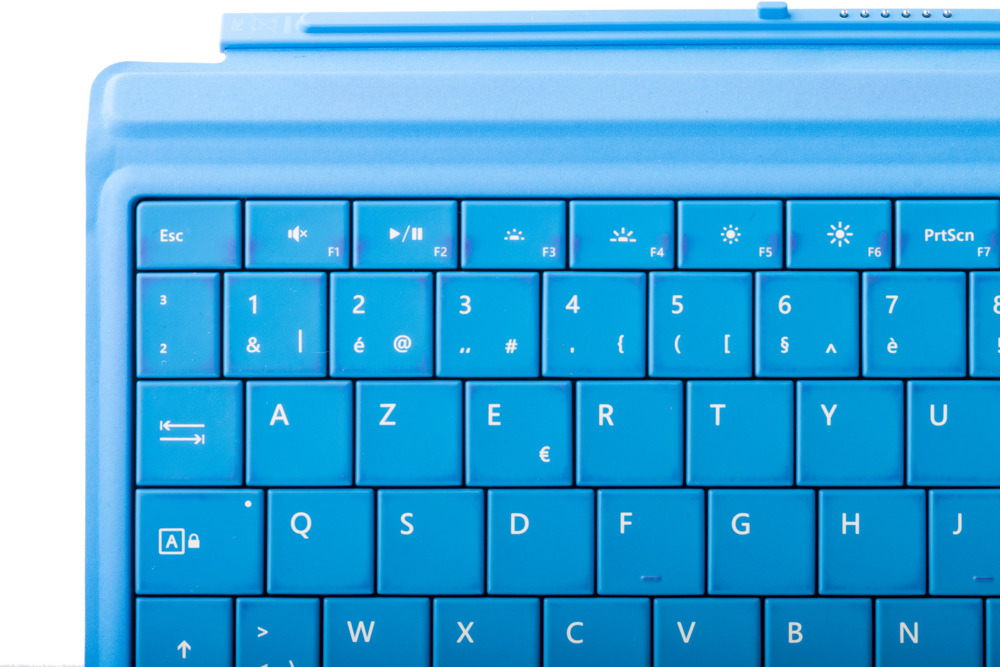 Keyboard Microsoft Surface Type Cover 3 Cyan AZERTY (Belgian) Grade B
