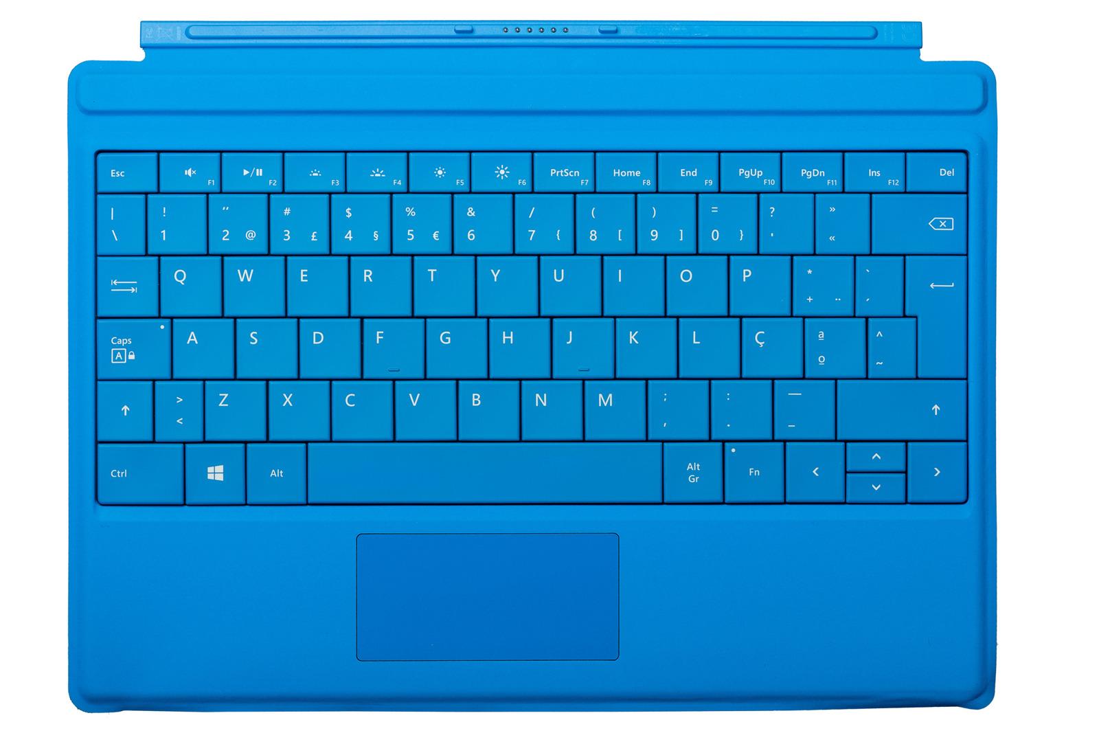 Keyboard Microsoft Surface Type Cover 3 Cyan QWERTY (Portuguese) Grade A