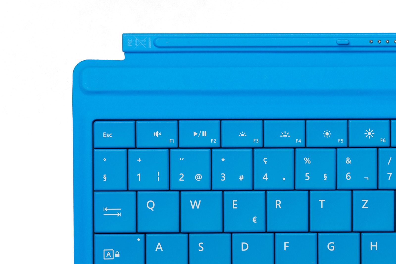 Keyboard Microsoft Surface Type Cover 3 Cyan QWERTZ (Swiss) Grade A