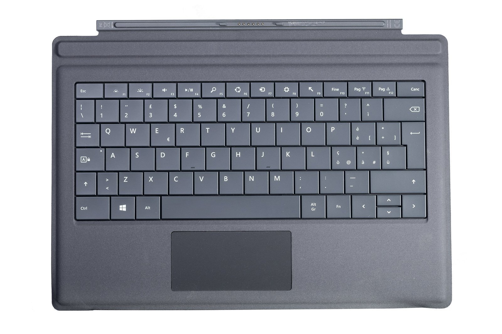 Keyboard Microsoft Surface Type Cover Pro 3 Black QWERTY (Italian) Grade A