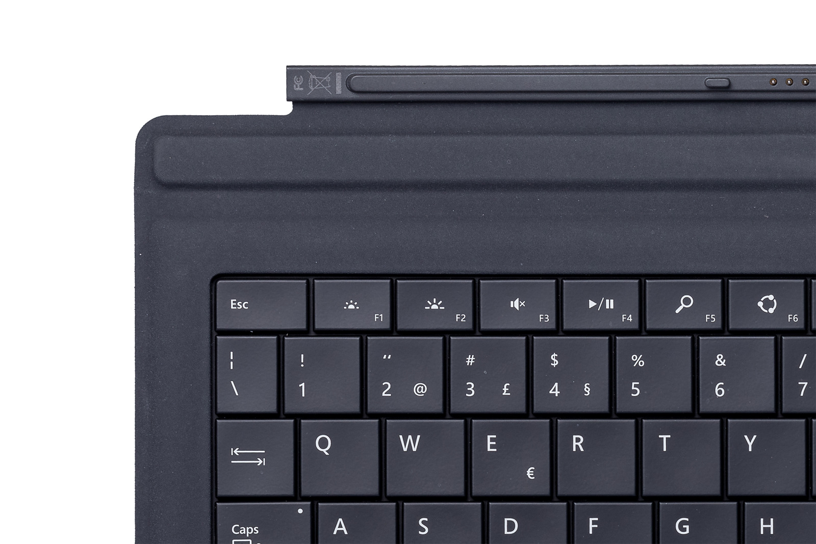 Keyboard Microsoft Surface Type Cover Pro 3 Black QWERTY (Portuguese) Grade A