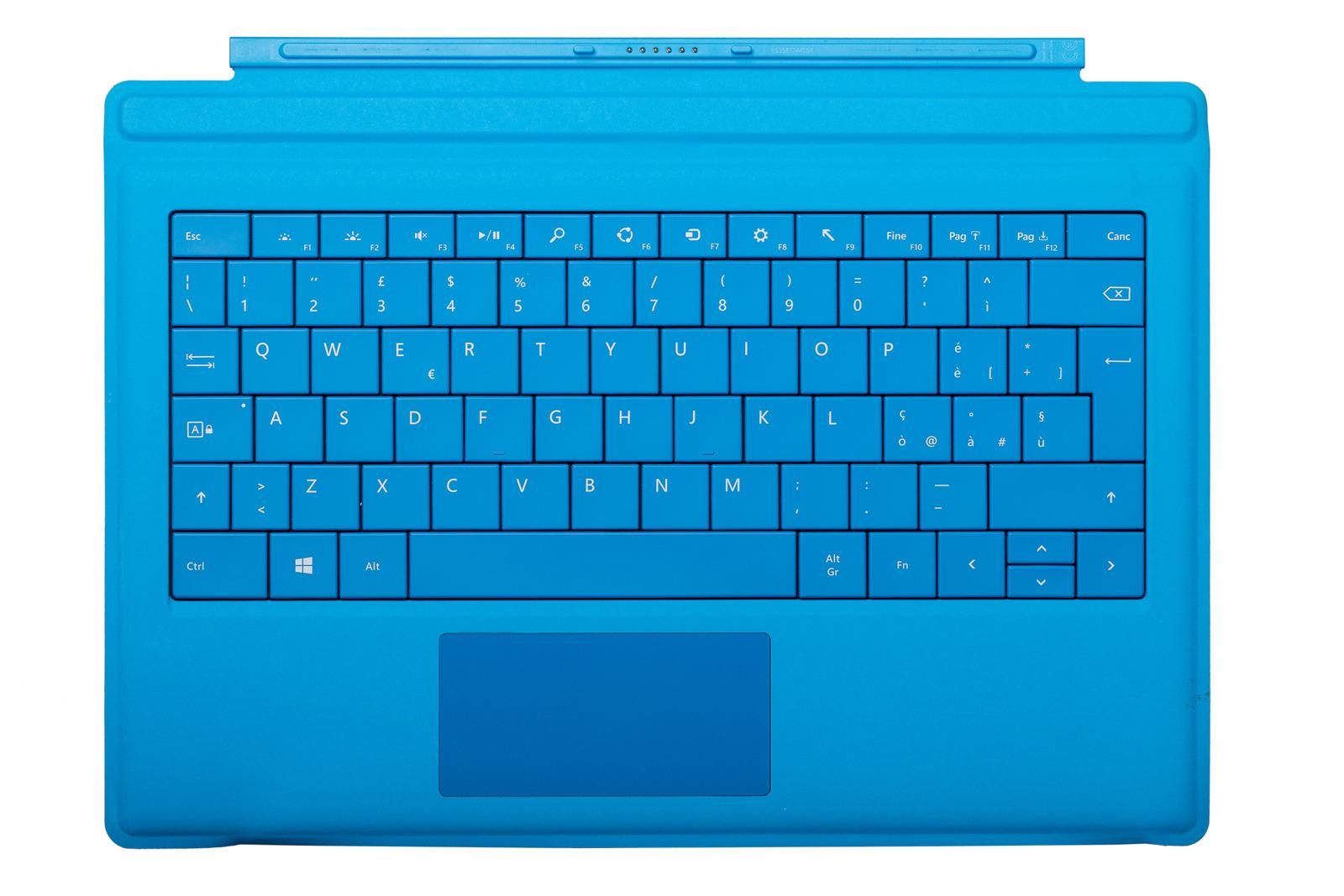 Keyboard Microsoft Surface Type Cover Pro 3 Cyan QWERTY (Italian) Grade B