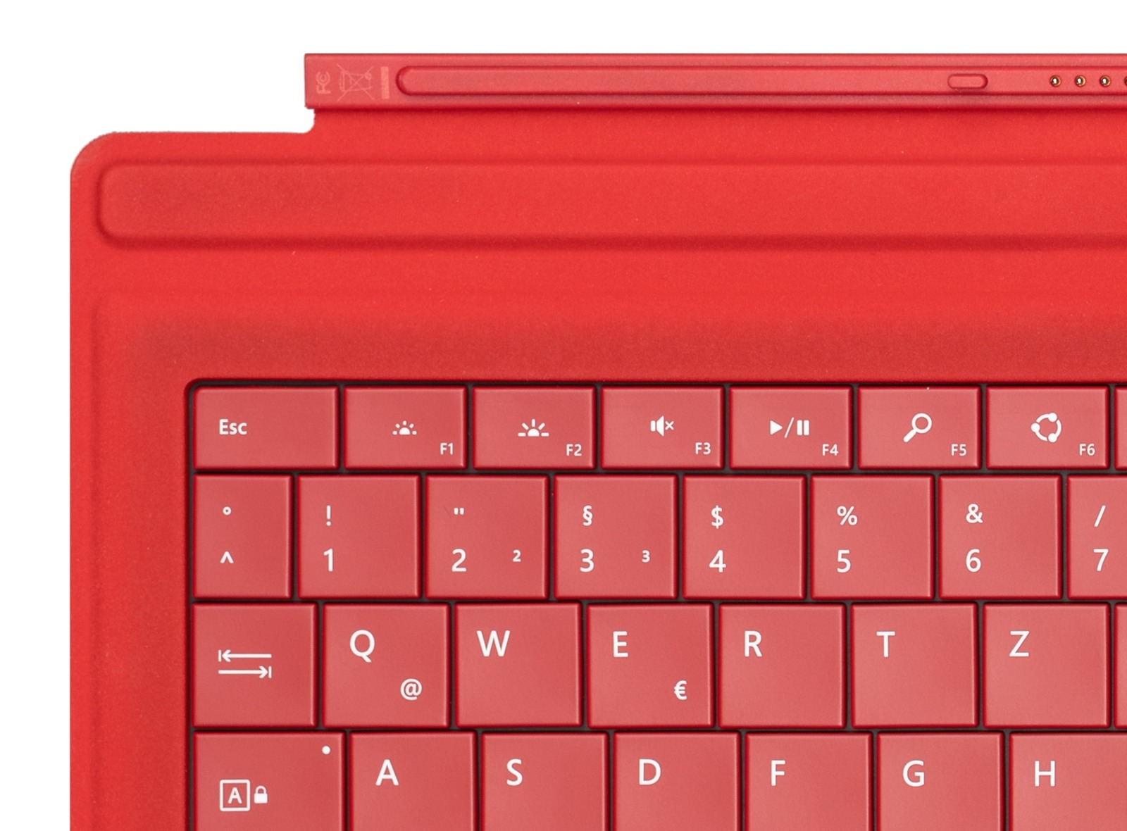 Keyboard Microsoft Surface Type Cover Pro 3 Red QWERTZ (German) Grade B