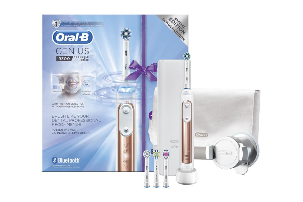New Braun Oral-B Toothbrush Genius 9300 9000 Rose Gold Special Edition Set