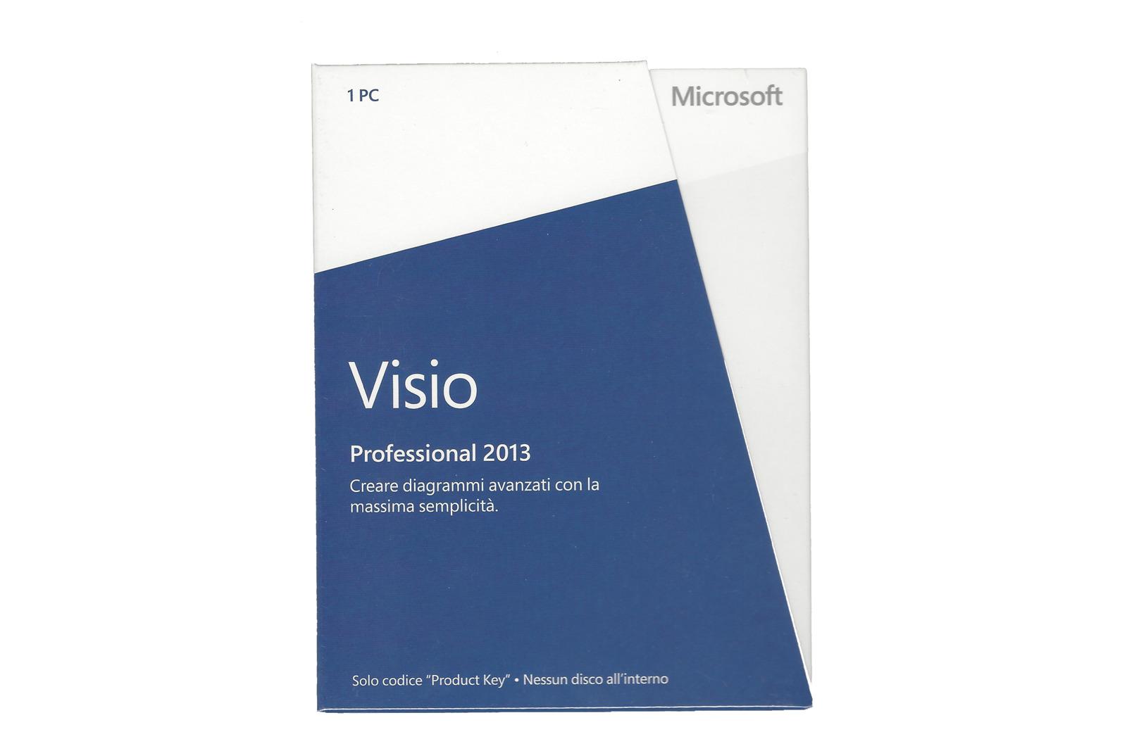 New Genuine Microsoft Visio Professional 2013 D87-05366 Medialess Eurozone BOX