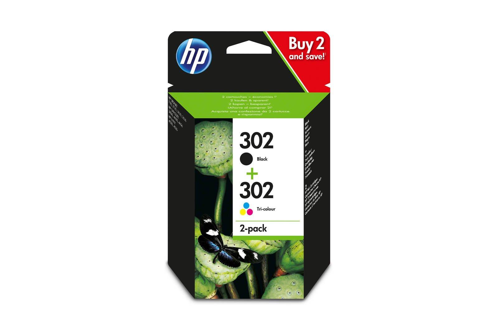 Original ink cartridges HP 302 X4D37AE Black + Color