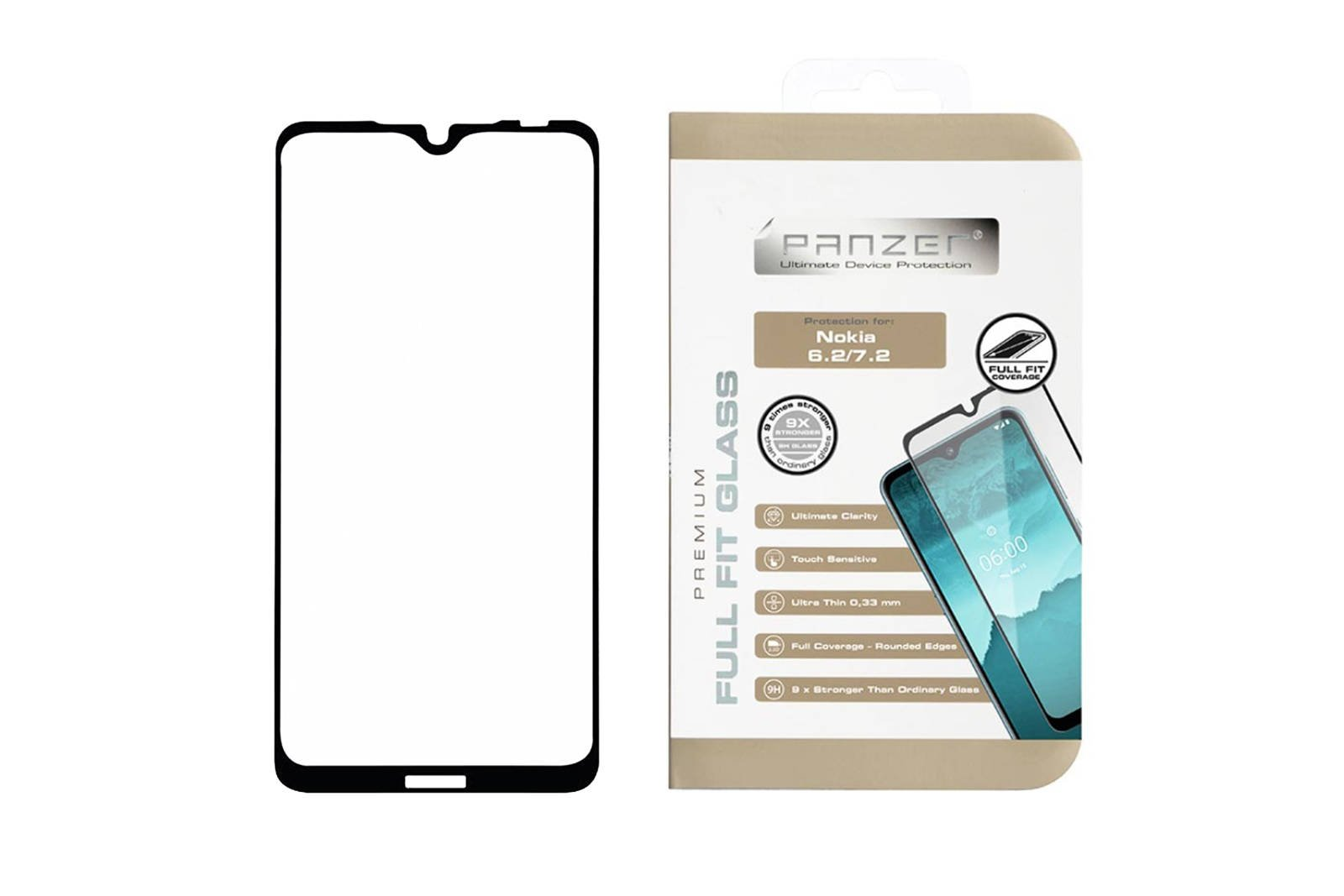 Protection glass Panzer FULL FIT GLASS NOKIA 6.2/7.2
