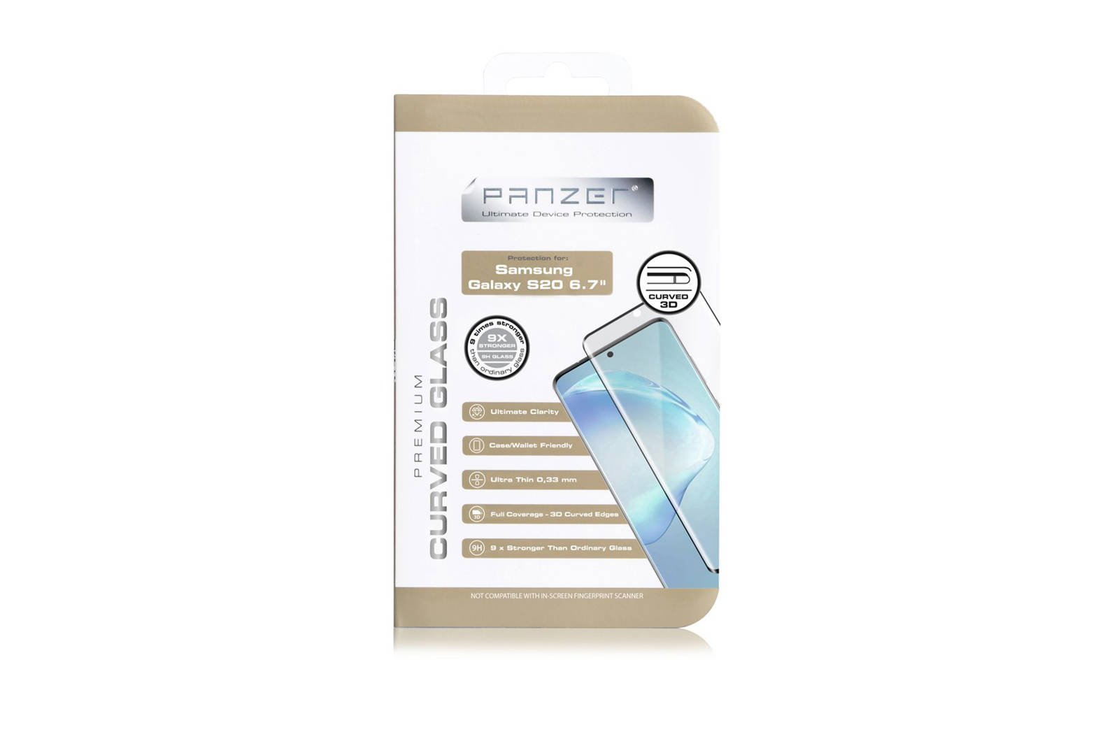 Protective glass Panzer Premium Curved Glass Samsung Galaxy S20+