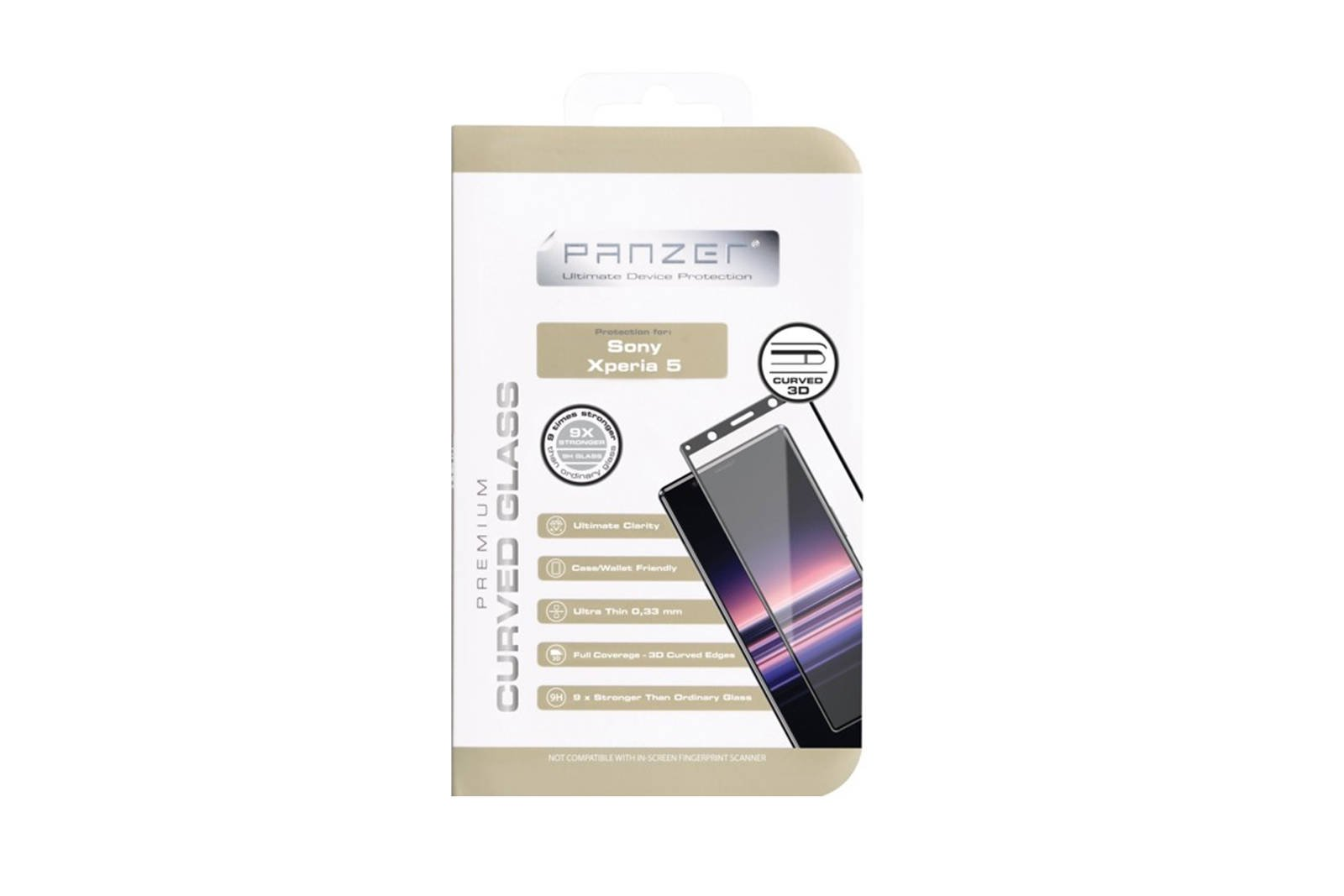 Protective glass Panzer Premium Curved Glass Sony Xperia 5